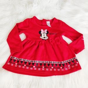 Disney Minnie Mouse long sleeve red dress